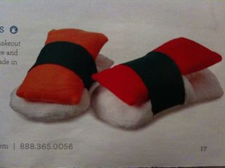Sushi slippers that I don't need